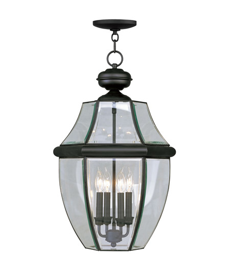 Livex 2357-04 Monterey 4 Light 16 inch Black Outdoor Hanging Lantern photo