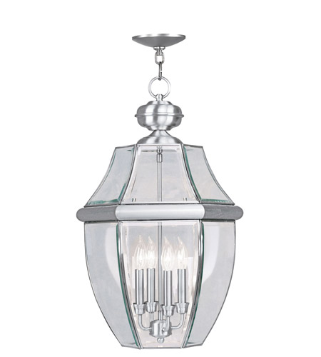 Livex 2357-91 Monterey 4 Light 16 inch Brushed Nickel Outdoor Hanging Lantern photo