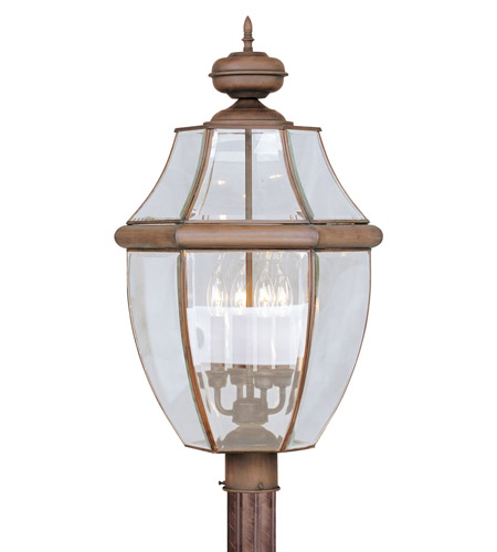 Livex Lighting Monterey 4 Light Outdoor Post Head in Imperial Bronze 2358-58 photo