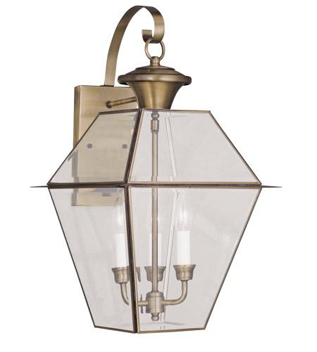 Brass Outdoor Light Fixtures Livex 2381 01 westover 3 light 23 inch antique brass outdoor wall livex 2381 01 westover 3 light 23 inch antique brass outdoor wall lantern workwithnaturefo