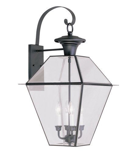 Livex Lighting Westover 4 Light Outdoor Wall Lantern in Black 2386-04 photo