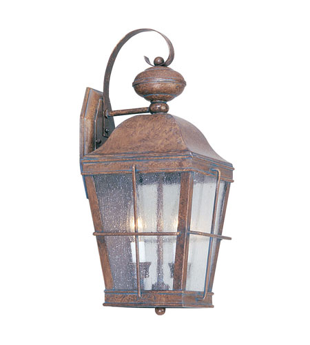 Livex Lighting Nantucket 2 Light Outdoor Wall Lantern in Burl 2416-10 photo