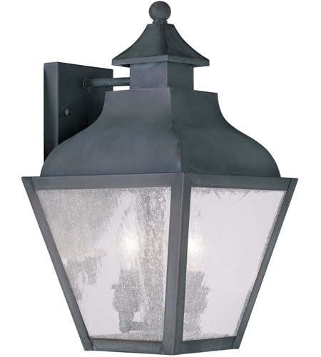 Livex 2451-61 Vernon 2 Light 15 inch Charcoal Outdoor Wall Lantern photo