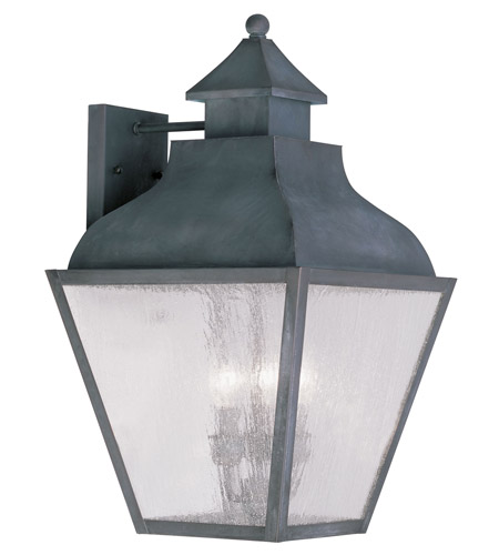 Livex Lighting Vernon 3 Light Outdoor Wall Lantern in Charcoal 2454-61 photo