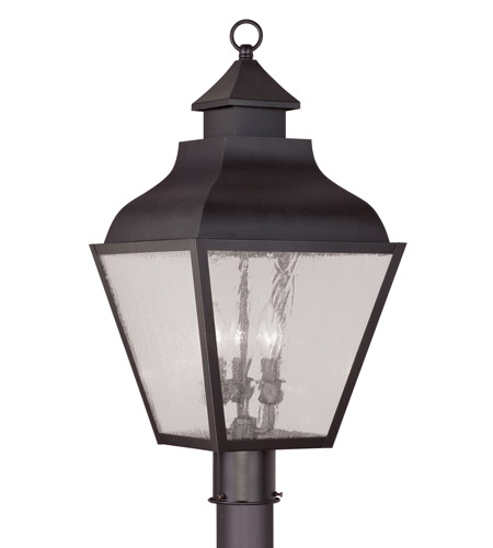 Livex Lighting Vernon 3 Light Outdoor Post Head in Bronze 2455-07 photo
