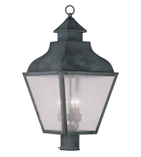 Livex 2455-61 Vernon 3 Light 24 inch Charcoal Outdoor Post Head photo