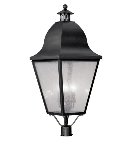 Livex Lighting Amwell 4 Light Outdoor Post Head in Black 2554-04 photo