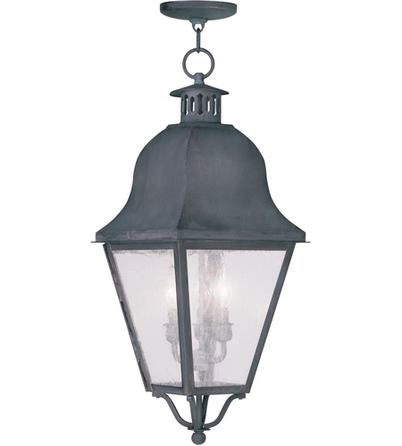 Livex 2557-61 Amwell 3 Light 11 inch Charcoal Outdoor Hanging Lantern photo