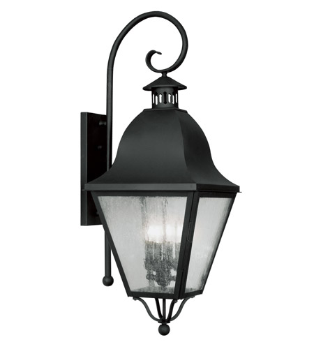 Livex Lighting Amwell 4 Light Outdoor Wall Lantern in Black 2558-04 photo
