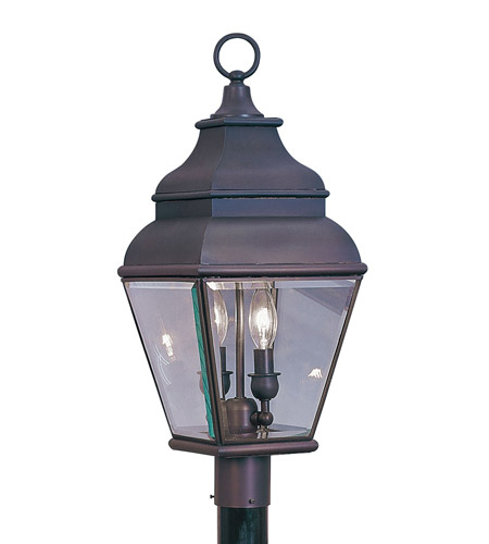 Livex 2592-07 Exeter 2 Light 22 inch Bronze Outdoor Post Head photo