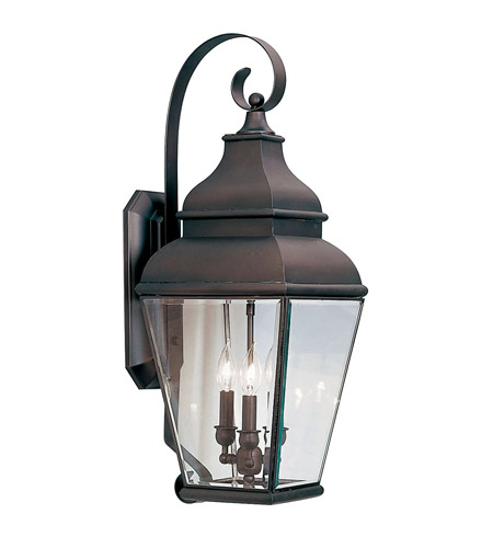 Livex 2593-07 Exeter 3 Light 29 inch Bronze Outdoor Wall Lantern photo