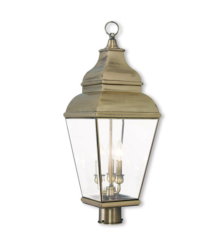 Solid Brass Exeter Post Lights & Accessories