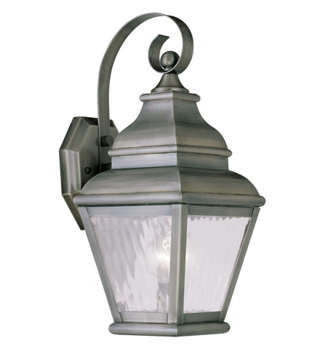 Livex Lighting Exeter 1 Light Outdoor Wall Lantern in Vintage Pewter 2601-29 photo