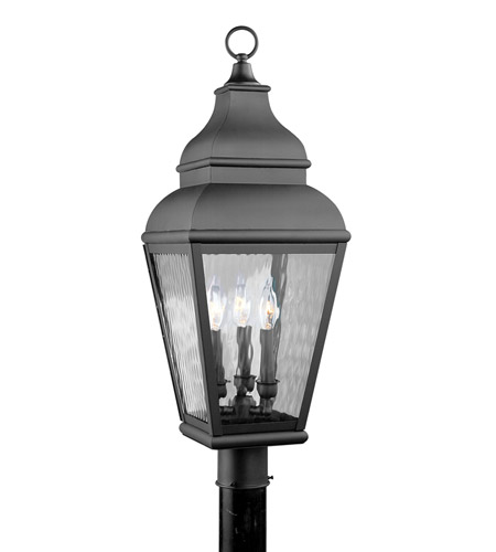 Livex 2606-04 Exeter 3 Light 30 inch Black Outdoor Post Head photo