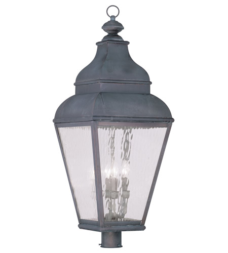 Livex Lighting Exeter 4 Light Outdoor Post Head in Charcoal 2608-61 photo