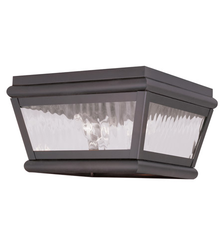 Livex 2611-07 Exeter 2 Light 8 inch Bronze Outdoor Ceiling Mount photo