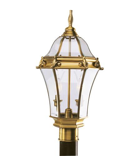 Livex Lighting Fleur de Lis 2 Light Outdoor Post Head in Flemish Brass 2622-22 photo