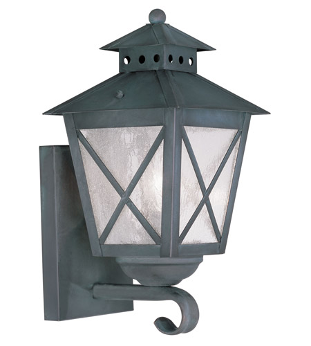 Livex Lighting Montgomery 1 Light Outdoor Wall Lantern in Charcoal 2670-61 photo