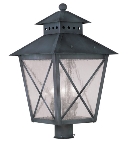 Livex 2678-61 Montgomery 3 Light 23 inch Charcoal Outdoor Post Head photo