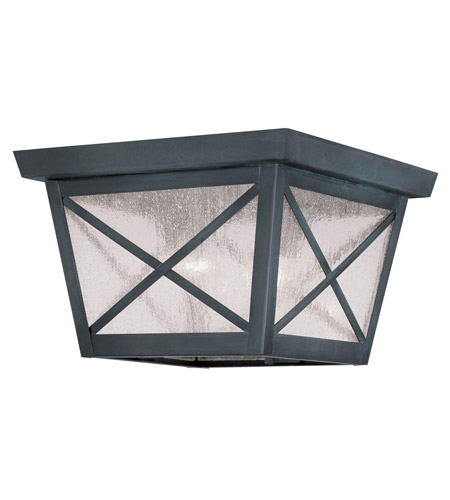 Livex Lighting Montgomery 2 Light Outdoor Ceiling Mount in Charcoal 2679-61 photo
