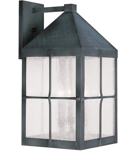 Livex Lighting Brighton 4 Light Outdoor Wall Lantern in Hammered Charcoal 2685-61 photo