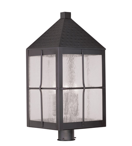 Livex 2686-07 Brighton 4 Light 26 inch Bronze Outdoor Post Head photo