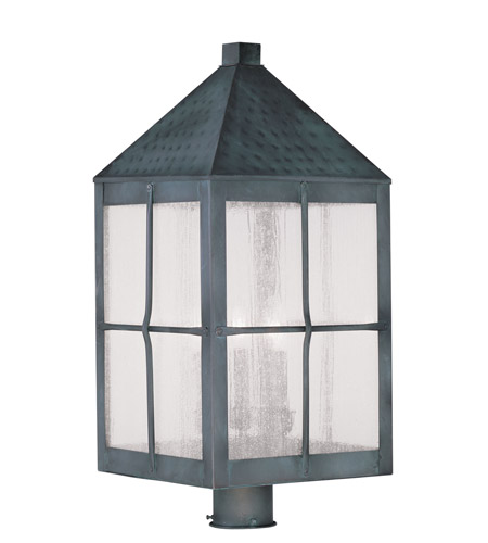 Livex 2686-61 Brighton 4 Light 26 inch Hammered Charcoal Outdoor Post Head photo