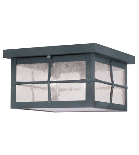 Livex 2689-61 Brighton 3 Light 10 inch Hammered Charcoal Outdoor Ceiling Mount photo