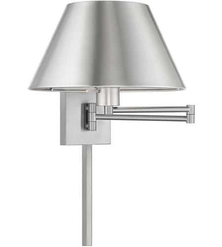 Livex 40030 91 Signature 25 Inch 100 Watt Brushed Nickel Swing Arm Wall Lamp Light