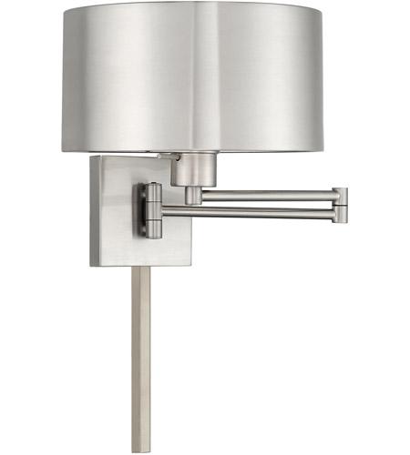Signature 24 Inch 100 Watt Brushed Nickel Swing Arm Wall Lamp Light