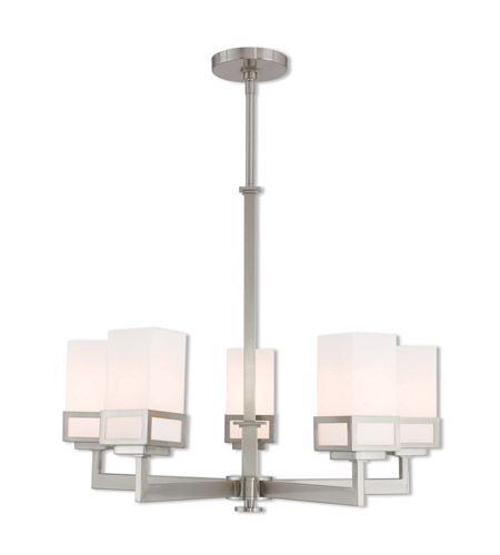 Livex 40195-91 Harding 5 Light 25 inch Brushed Nickel Chandelier Ceiling Light photo thumbnail