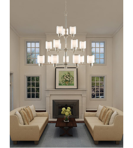 Livex Brushed Nickel Steel Foyer Pendants