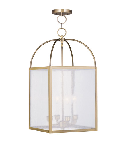 Livex Lighting Milford 4 Light Pendant in Antique Brass 4046-01 photo