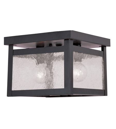 Livex 4051-07 Milford 2 Light 8 inch Bronze Ceiling Mount Ceiling Light in Clear Seeded photo