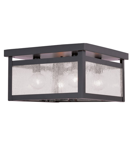 Livex 4052-07 Milford 4 Light 11 inch Bronze Ceiling Mount Ceiling Light in Clear Seeded photo