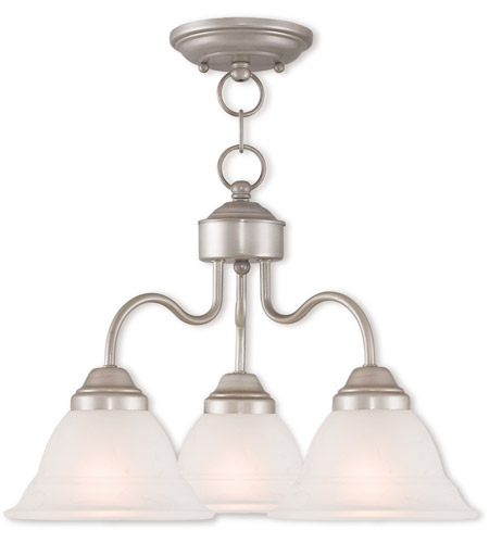 Livex 40723-34 Wynnewood 3 Light 18 inch Hand Applied Brushed Silver Dinette Chandelier Ceiling Light photo thumbnail