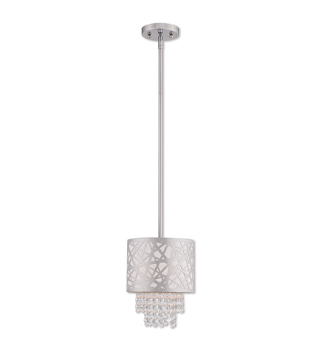 Livex 40754-05 Allendale 1 Light 8 inch Polished Chrome Mini Pendant Ceiling Light photo