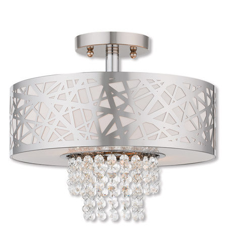 Livex 40762-05 Allendale 2 Light 13 inch Polished Chrome Semi Flush Mount Ceiling Light photo