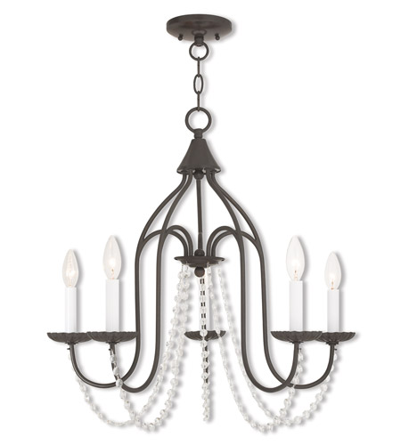 Livex 40795-92 Alessia 5 Light 24 inch English Bronze Chandelier Ceiling Light photo