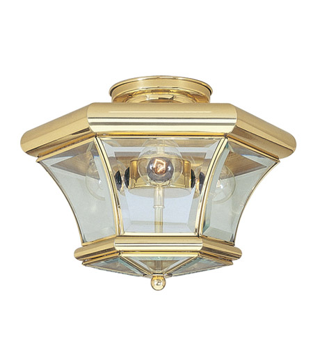 Livex Lighting Beacon Hill 3 Light Ceiling Mount in Polished Brass 4083-02 photo