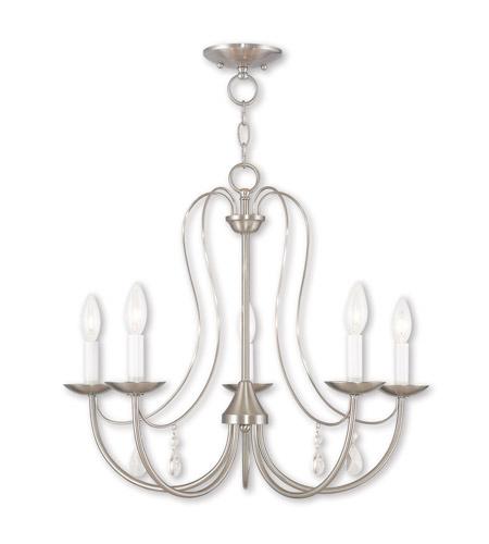 Livex 40865 91 mirabella 5 light 24 inch brushed nickel chandelier ceiling light photo