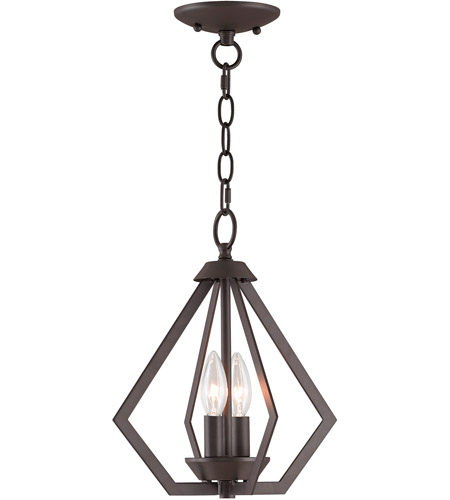 Livex 40922-07 Prism 2 Light 11 inch Bronze Mini Chandelier Ceiling Light photo