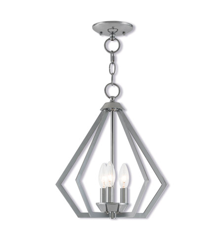 Livex 40923-05 Prism 3 Light 14 inch Polished Chrome Mini Chandelier Ceiling Light photo