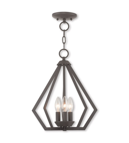 Livex 40923-07 Prism 3 Light 14 inch Bronze Mini Chandelier Ceiling Light photo
