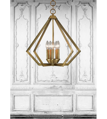 Livex 40925-01 Prism 5 Light 20 inch Antique Brass Chandelier Ceiling Light photo