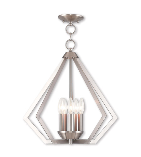 Livex 40925-91 Prism 5 Light 20 inch Brushed Nickel Chandelier Ceiling Light photo