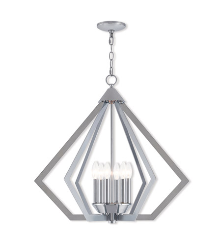 Livex 40926-05 Prism 6 Light 26 inch Polished Chrome Chandelier Ceiling Light photo
