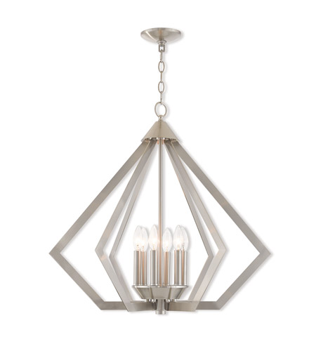 Livex 40926-91 Prism 6 Light 26 inch Brushed Nickel Chandelier Ceiling Light  sc 1 st  Livex Lighting & Livex 40926-91 Prism 6 Light 26 inch Brushed Nickel Chandelier ... azcodes.com