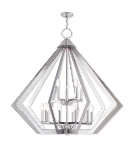Livex 40928-05 Prism 15 Light 42 inch Polished Chrome Foyer Chandelier Ceiling Light photo
