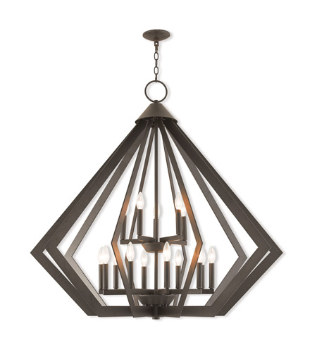 Livex 40928-07 Prism 15 Light 42 inch Bronze Foyer Chandelier Ceiling Light photo